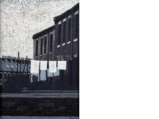 Stuart Walton (British, born Leeds 1934) 'Little Cross Street, Bradford'