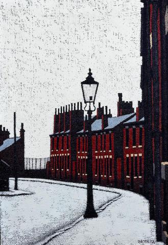 Stuart Walton (British, born Leeds 1934) 'Rosebank Road, Leeds'