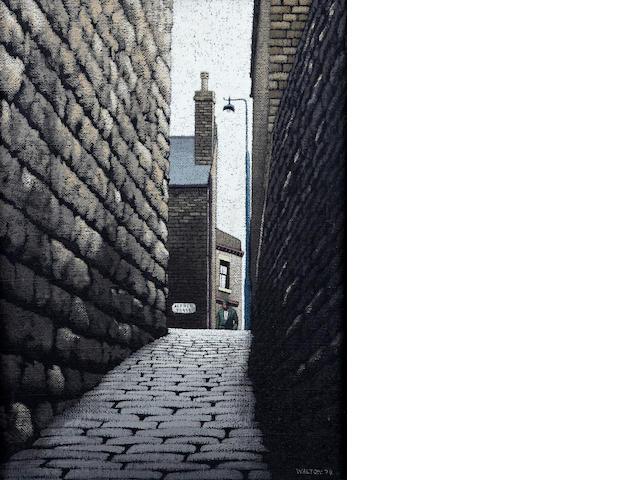 Stuart Walton (British, born Leeds 1934) 'Alfred Place, Dewsbury'