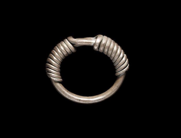 A European silver bracelet
