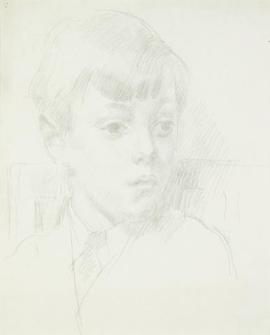 Henry Lamb (British, 1883-1960) Head of a young boy