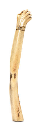 A stag-antler arm-shaped kiseruzutsu (pipecase) Late 19th century