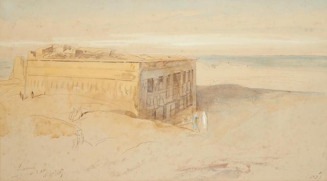 Edward Lear (British, 1812-1888) Denderah, Egypt