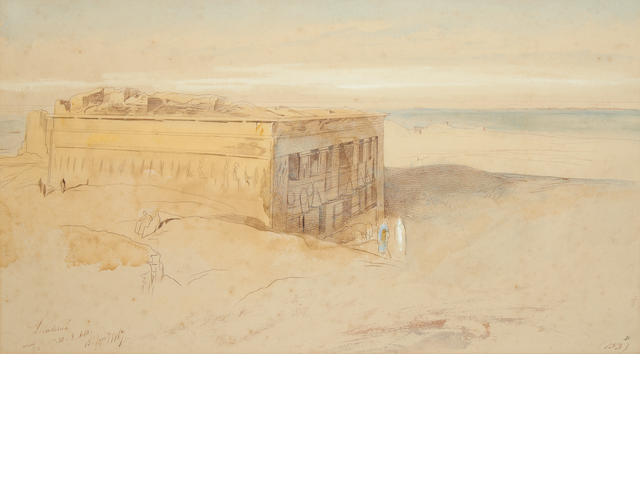 Edward Lear (British, 1812-1888) Denderah, Egypt