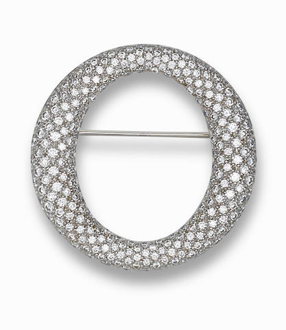 A diamond brooch, by Tiffany & Co.