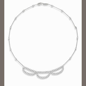 A diamond necklace, by Tiffany & Co.