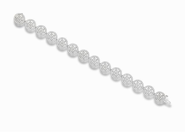 A diamond bracelet, by Tiffany & Co.