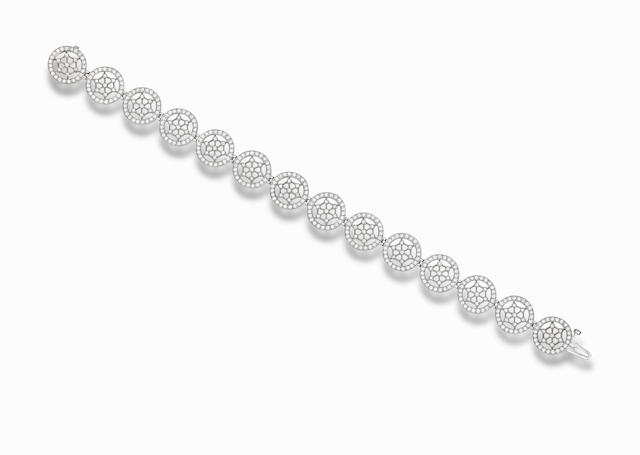 A diamond bracelet, by Tiffany & Co.