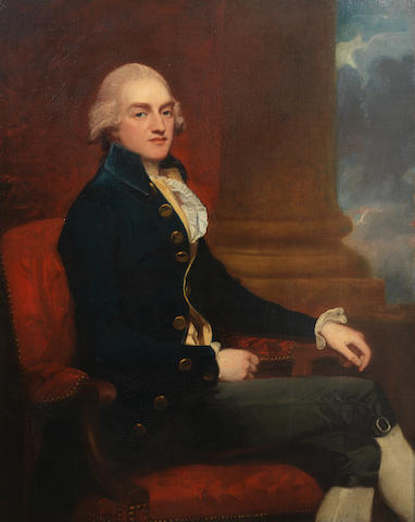 George Romney (Beckside 1734-1802 Kendal) Portrait of Stratford Canning, three-quarter lenght, seated