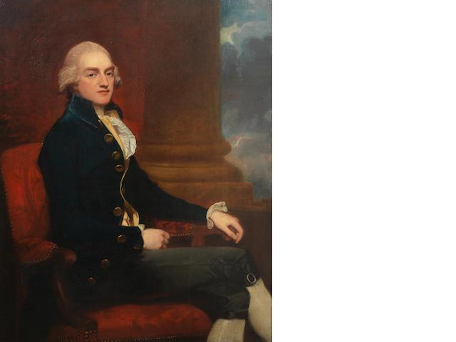 George Romney (Beckside 1734-1802 Kendal) Portrait of Stratford Canning, three-quarter lenght, seated