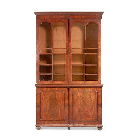 An early Victorian mahogany bookcase