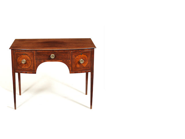 A George III small bow front side table