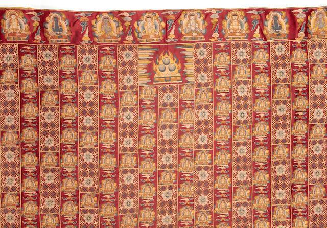 A 'Ten Thousand Buddha' meditation shawl, kasaya