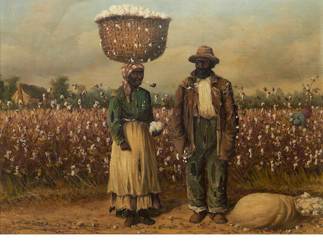 William Aiken Walker (American, 1838-1921) Cotton pickers