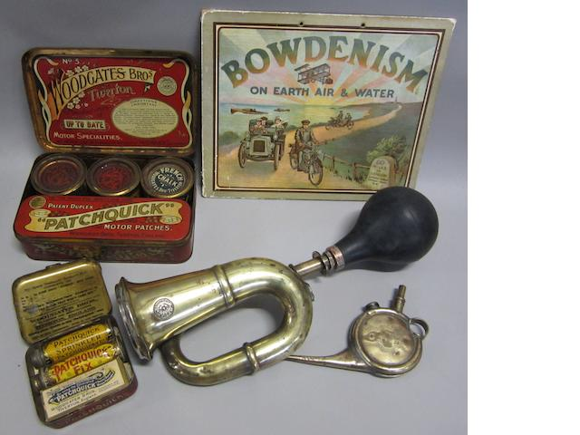 An Edwardian motoring lot,