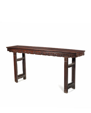 A massive hardwood altar table Late Qing Dynasty