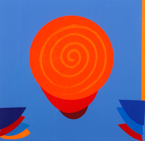 Terry Frost (British, 1915-2003) 'Orange and Blue Space'