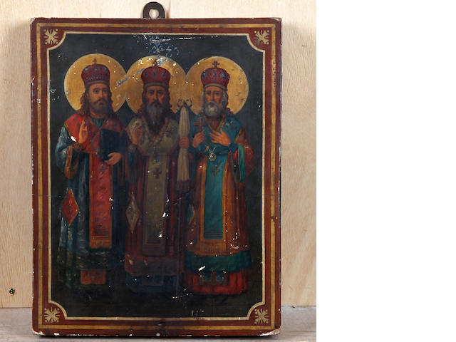 Greek School, (circa 1902) Three Orthodox Patriarchs