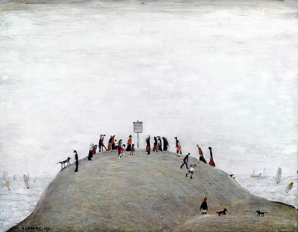 Laurence Stephen Lowry R.A. (British, 1887-1976) 'The Notice Board'