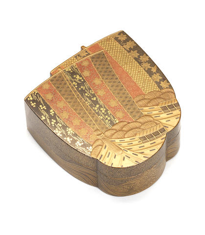 A gold lacquer kobako (small box) and cover Meiji Period