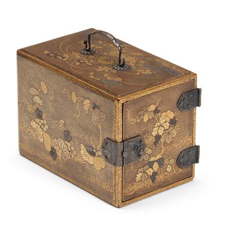 A gold lacquer miniature kodansu (cabinet) 19th century