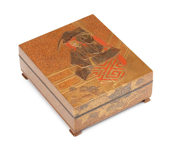 A gold lacquer box and cover Meiji Period