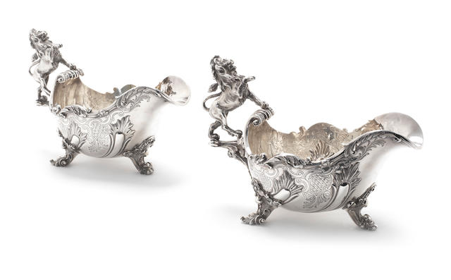 ASPREY: A pair of silver sauceboats, by Asprey & Co. Ltd, London 1979  (2)
