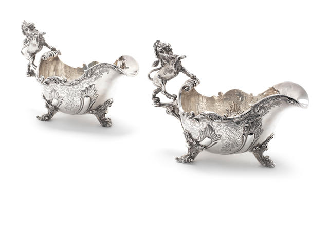 ASPREY:  A pair of silver sauceboats, by Asprey and Co Ltd, London 1979  (2)
