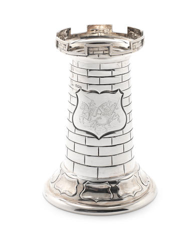 A 20th century silver tower trophy cup by Fattorini & Sons Ltd, Sheffield 1910  (1)