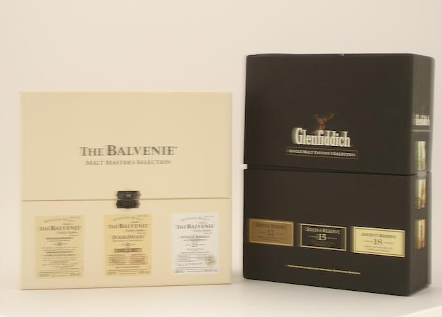 The Balvenie Malt Masters Selection (3):   The Glenfiddich Single Malt Tasting Collection (4):