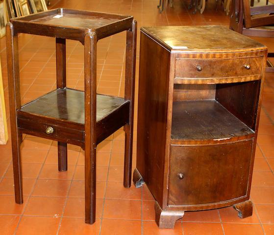 A George III mahogany washstand,