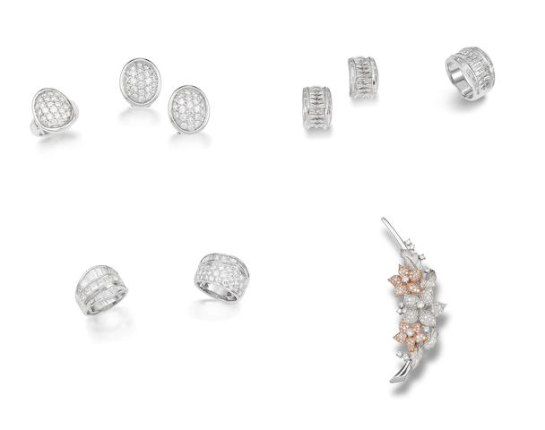 A group of diamond jewellery (7)