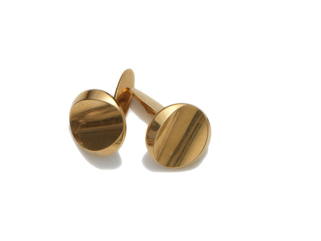Georg Jensen a Pair of 18 Carat Gold Cufflinks