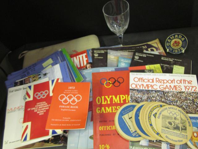 A collection of Olympic items