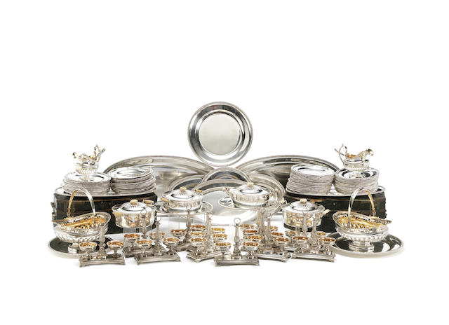 A large silver dinner-service Andreas Gottfried Ring, St. Petersburg, 1834-1835