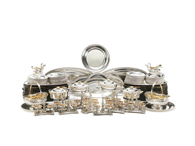 A Russian silver dinner service, Andreas Gottfried Ring, St. Petersburg, 1834