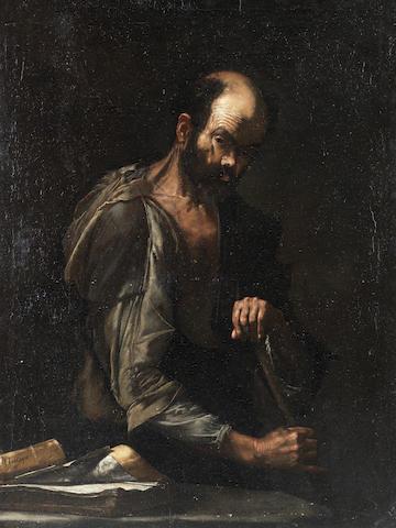 Studio of Jusepe de Ribera (Jativa 1588-1656 Naples) Hesope  unframed