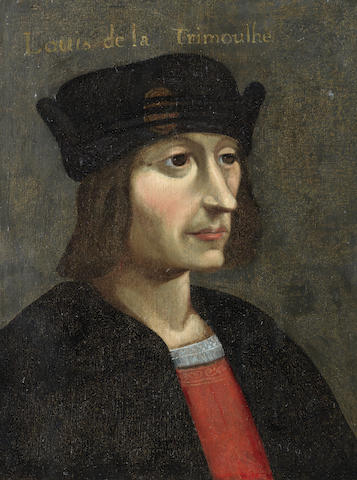 French School, 17th Century Portrait of a man, said to be 'Louis de Trimouille', half-length, in early 16th Century costume unframed