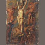 French School, 19th Century The Crucifixion unframed