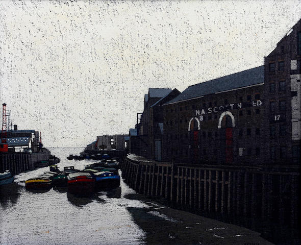Stuart Walton (British, born Leeds 1934) 'View from Dry Pool Bridge, Hull'