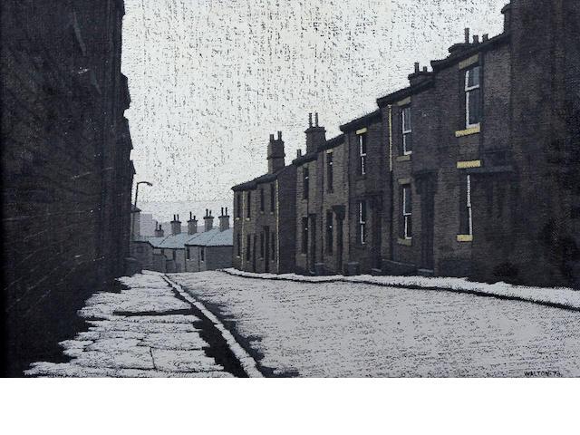Stuart Walton (British, born Leeds 1934) 'Bakes St, Great Horton, Bradford'