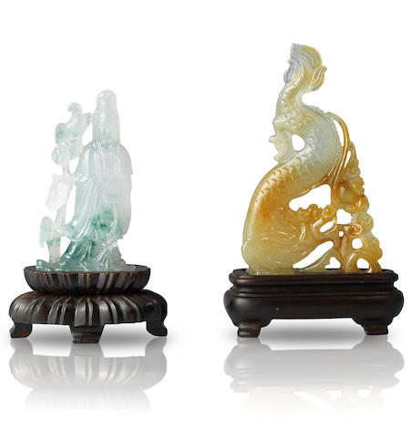 Two jadeite carvings