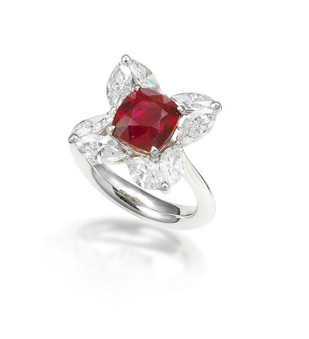 A ruby and diamond ring by Fai Dee