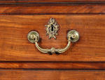 A George III mahogany chest on chest  in the manner of Thomas Chippendale