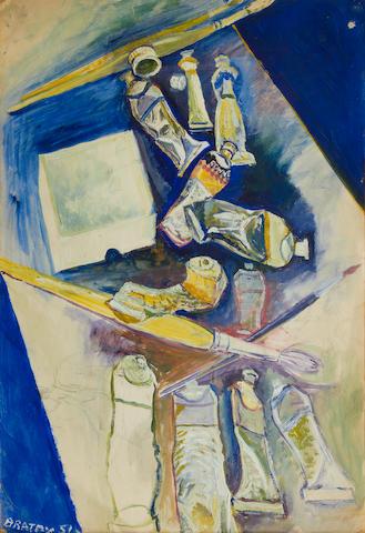 John Bratby R.A. (British, 1928-1992) Paint tubes