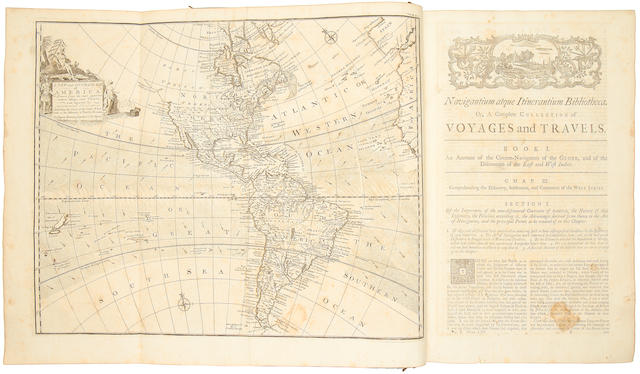 HARRIS (JOHN) Navigantium atque itinerantium bibliotheca. Or, a Complete Collection of Voyages and Travels Consisting of Above Six Hundred of the Most Authentic Writers, 2 vol., 1744-1748