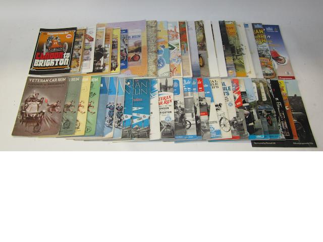 A good collection of London to Brighton Run programmes, 1950-1999,