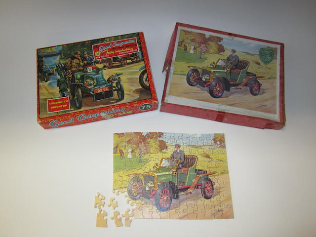 Two veteran car jig-saw puzzles,