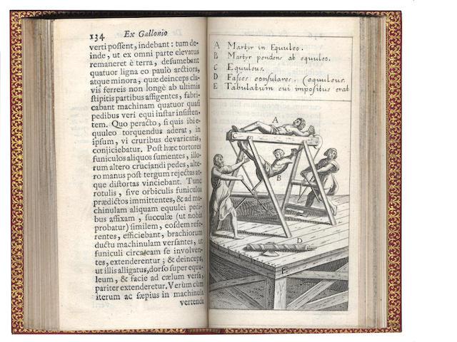 TORTURE. MAGGI (GIRLAMO) De equuleo, liber posthumu, Amsterdam, 1664