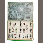 Britains set 158 Complete Railway Set (No.1 Gauge Scale) 26 including shovel
